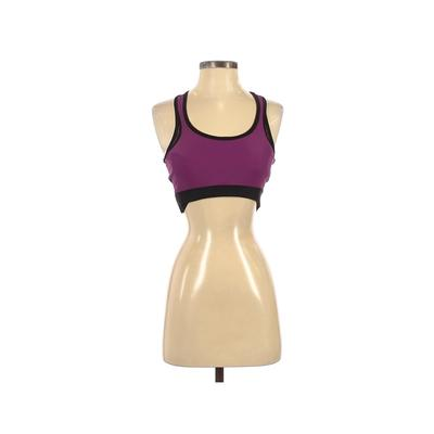Jala Clothing Sports Bra: Pink Color Block Activewear - Size Small