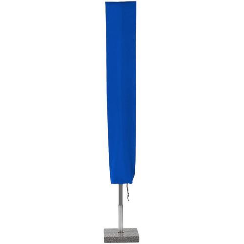 Planesium Abdeckplane für Sonnenschirm Blau 260cm x Ø 73cm Hülle Abdeckung Schutzhülle Haube Ampelschirm