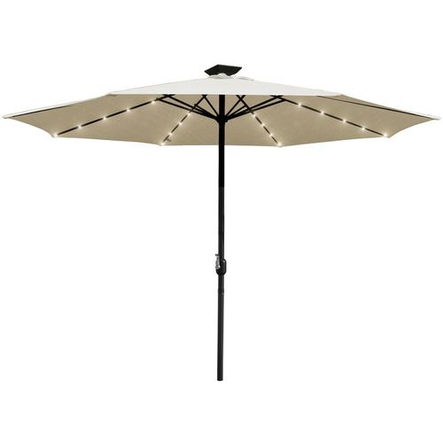 300cm Sonnenschirm Beleuchtung Regenschirm Lichterkette mit 36 LED Lichter mit Fernbedienung
