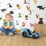 Papier peint enfant animaux pour...