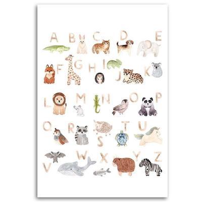 Tableau enfant alphabet with pet...
