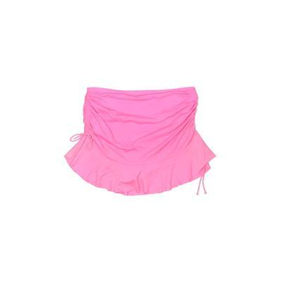 Torrid Swimsuit Bottoms: Pink Solid Swimwear - Size Large Plus
