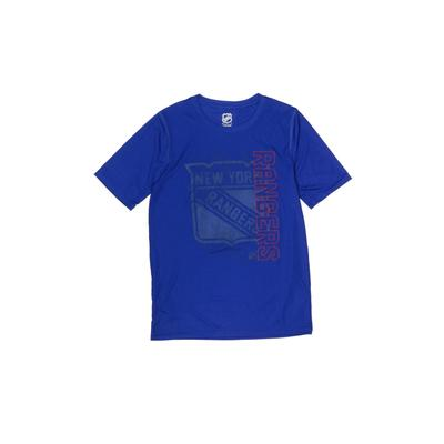 NFL Active T-Shirt: Blue Solid Sporting & Activewear - Size 14