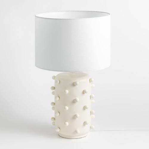 Keramische Tischlampe Bubo Keramik Eierschale - Eierschale - Sklum