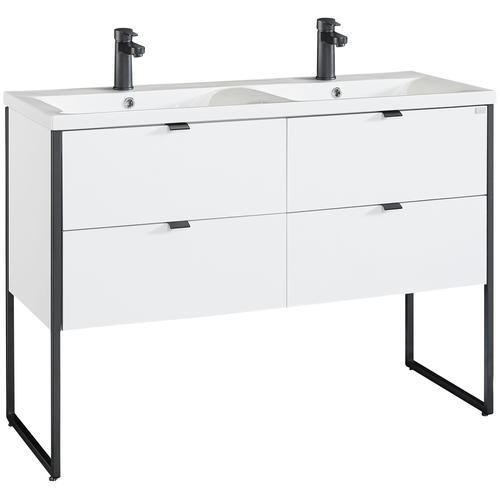 OTTO products Doppelwaschtisch Netta, Waschtisch Badmöbel in Breite 120 cm weiß Waschtische