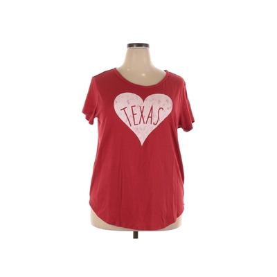 Home Free Short Sleeve T-Shirt: Red Graphic Tops – Size 2X-Large