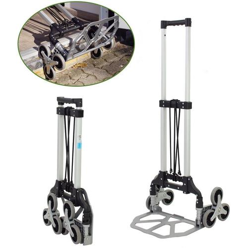 Baumarktplus - Aluminium Treppensackkarre klappbar 70 kg Treppensteiger Transportkarre Stapelkarre