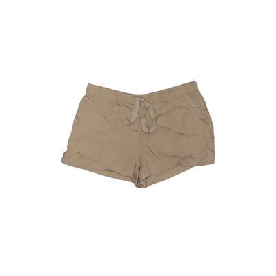 1822 Denim Shorts: Tan Solid Bot...