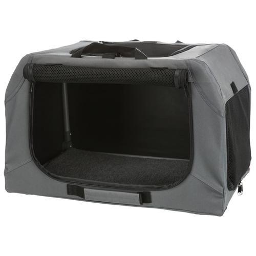 TRIXIE Hunde-Transportbox Easy Soft XS/S Grau
