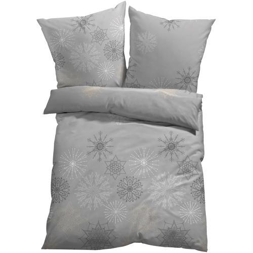Bettwäsche mit Eiskristallen