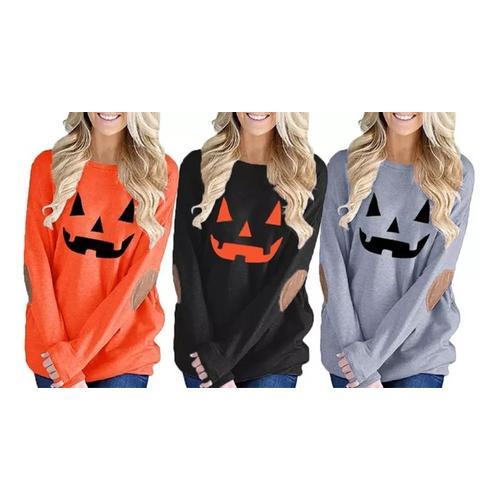 Halloween Damen-Top / Orange / Gr. L / 1