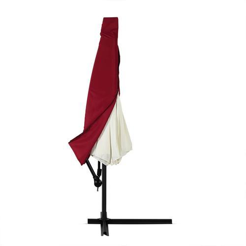Schutzhülle Sonnenschirm für 3m Schirme Schirm Abdeckhaube Abdeckung Hülle Plane Ampelschirm rot,