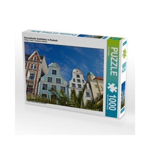 Hanseatische Architektur in Rostock Foto-Puzzle Bild von Rico Ködder Puzzle
