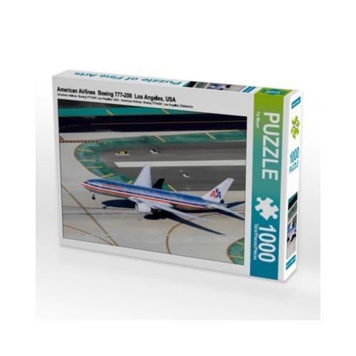 American Airlines Boeing 777-200 Los Angeles, USA Foto-Puzzle Bild von Tis Meyer Puzzle