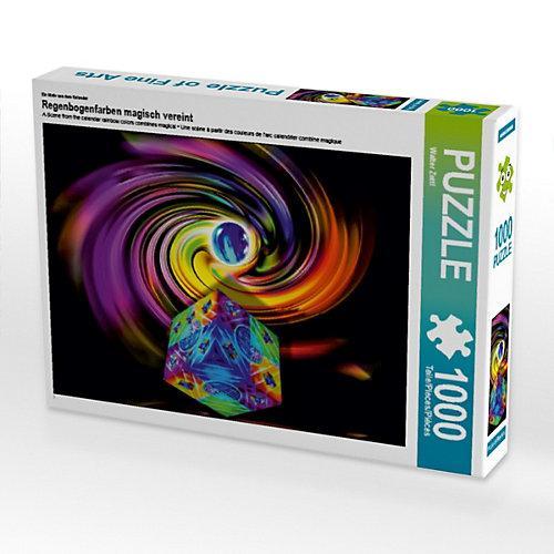 Regenbogenfarben magisch vereint Foto-Puzzle Bild von Walter Zettl Puzzle