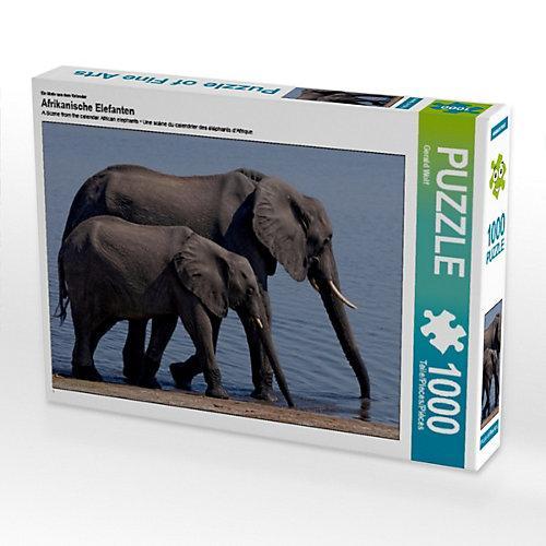 Afrikanische Elefanten Foto-Puzzle Bild von Gerald Wolf Puzzle