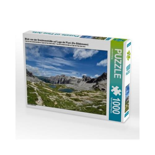 Blick von der Dreizinnenhütte auf Lago dei Piani (Die Bödenseen) Foto-Puzzle Bild von Joachim Barig Puzzle