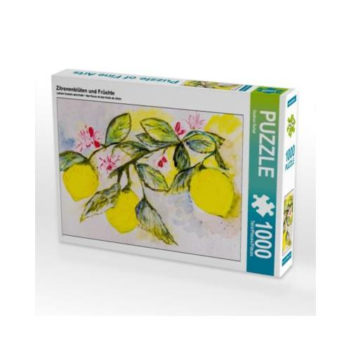 Zitronenblüten und Früchte Foto-Puzzle Bild von Gudrun Rebel Puzzle