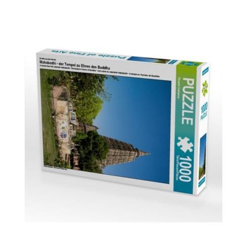 Mahabodhi - der Tempel zu Ehren des Buddha Foto-Puzzle Bild von www.Indien-Besuchen.de Puzzle