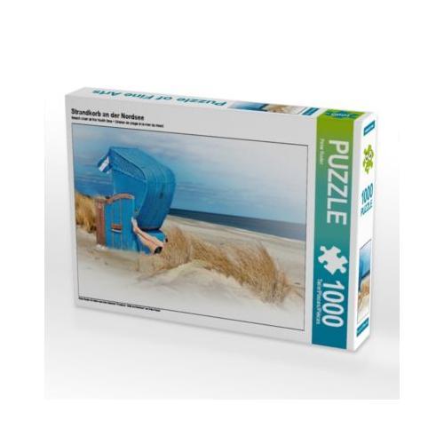 Strandkorb an der Nordsee Foto-Puzzle Bild von Peter Roder Puzzle