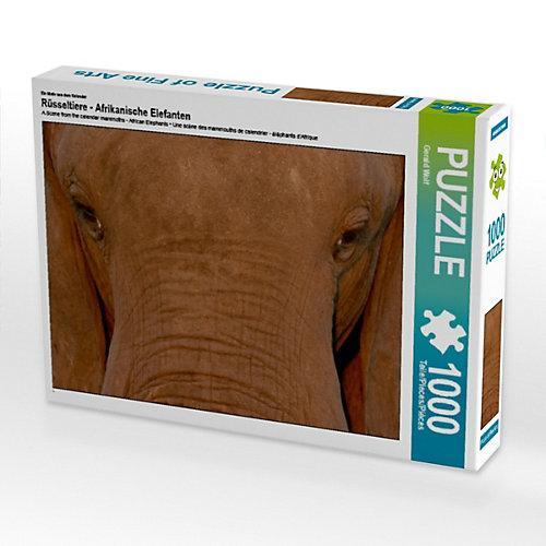 Rüsseltiere - Afrikanische Elefanten Foto-Puzzle Bild von Gerald Wolf Puzzle
