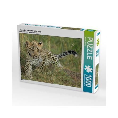 Leoparden – Kleiner unterwegs Foto-Puzzle Bild von Michael Herzog Puzzle
