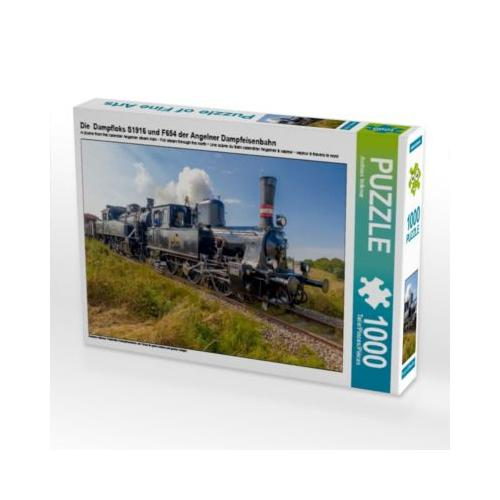 Die Dampfloks S1916 und F654 der Angelner Dampfeisenbahn Foto-Puzzle Bild von Andreas Volkmar Puzzle