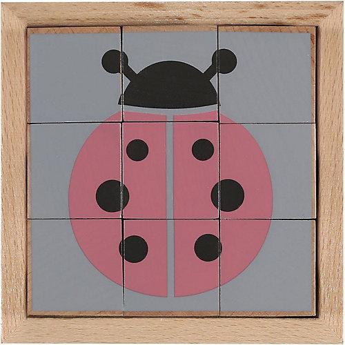 Holzwürfel-Puzzle Tiere Würfelpuzzle
