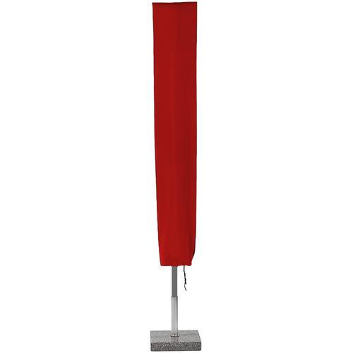 Planesium Abdeckplane für Sonnenschirm Rot 160cm x Ø 15cm Hülle Abdeckung Schutzhülle Haube Ampelschirm
