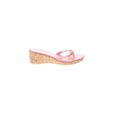 Italian Shoemakers Footwear Mule/Clog: Pink Solid Shoes - Size 8