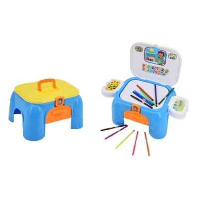 Carry Case and Stool Doodle Projector Desk Set with Accessories