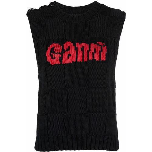Ganni Gestricktes Top