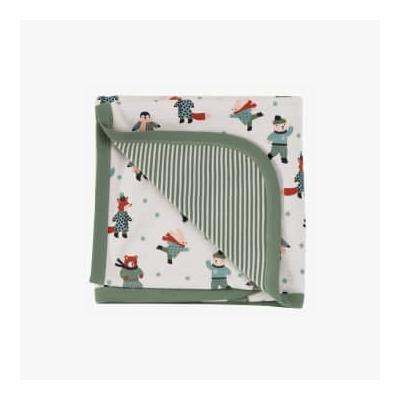 Pigeon Organics - Skating Animals Blanket Green