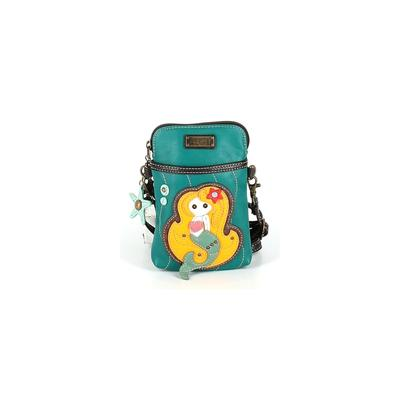 Chala Handbags Crossbody Bag: Blue Color Block Bags