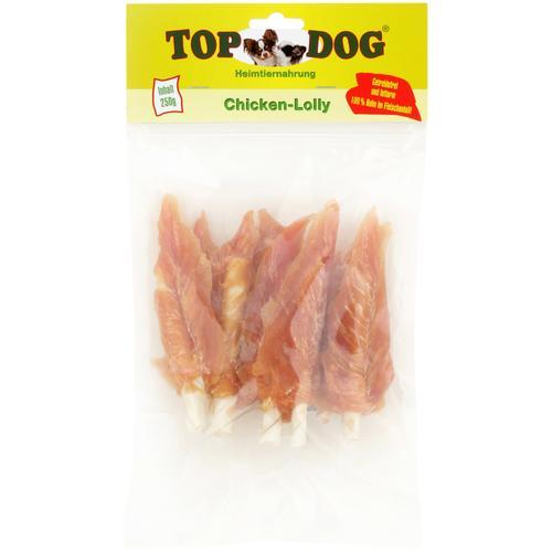 TOP DOG Hundesnack Chicken-Lolly, 6x 250g gelb Hundefutter Hund Tierbedarf