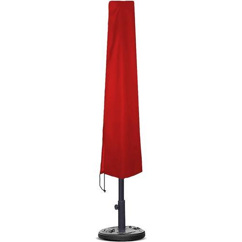 Planesium Abdeckplane für Sonnenschirm Rot 230cm x Ø 35cm / 65cm Hülle Abdeckung Schutzhülle Haube Ampelschirm