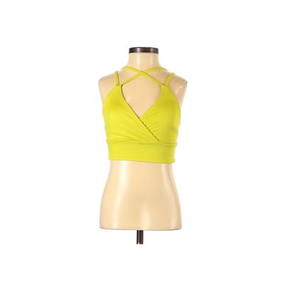 Soma Sport Sports Bra: Yellow Solid Activewear - Size X-Small