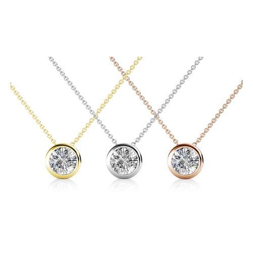 Halskette mit Kristall-Anhänger: 1/ Gold