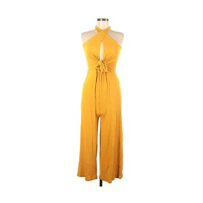 Love Tree Jumpsuit: Yellow Solid...