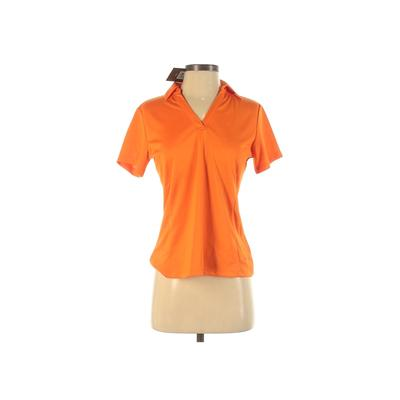 Lady Hagen Active T-Shirt: Orange Solid Activewear - Size Small