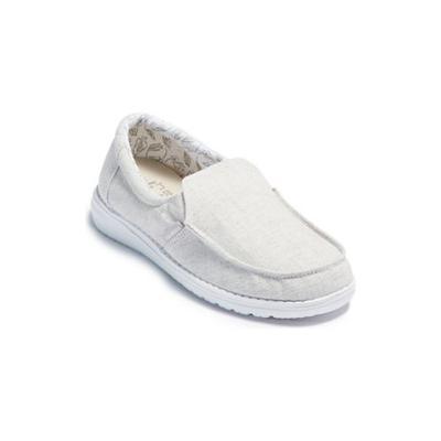 HEY DUDE Chmbry Gry Misty Stretch Steppa Loafers