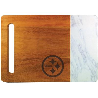 Pittsburgh Steelers Cutting & Serving Board with Faux Marble