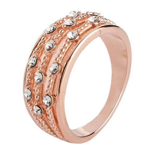Ring veredelt mit Kristallsteinen