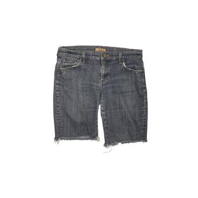 See Thru Soul Denim Shorts: Blue...
