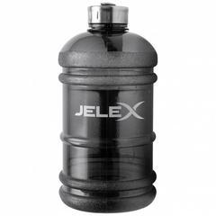 JELEX XXL Pott Fitness Trainings Trinkflasche 2,2l schwarz