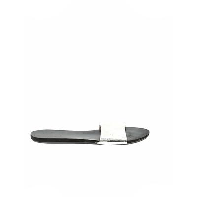 Sandals: Silver Solid Shoes - Size 41