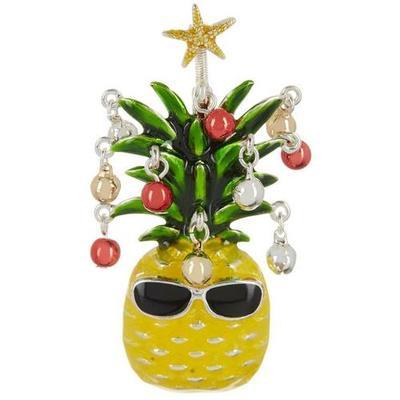Brighten the Season Pineapple Holiday Pin
