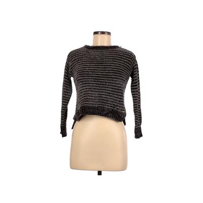 DKNY Pullover Sweater: Gray Stripes Tops - Size Small