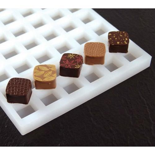 Silikonform für Pralinen, Quadrat