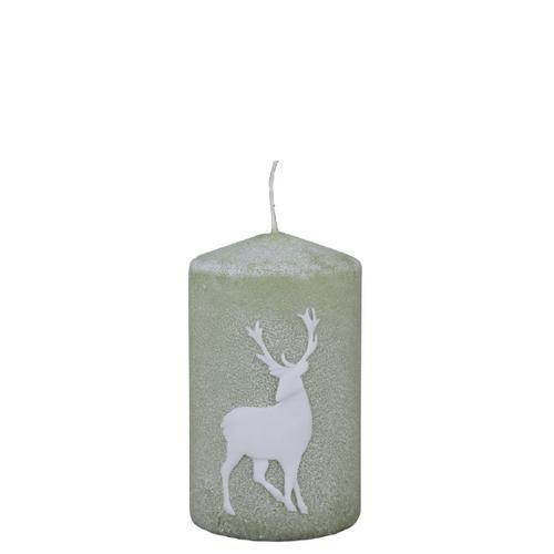 Wiedemann Weihnachtskerzen Stumpen Powder Deer Aloe Vera 100 x 60 mm, 6er Set Kerzen